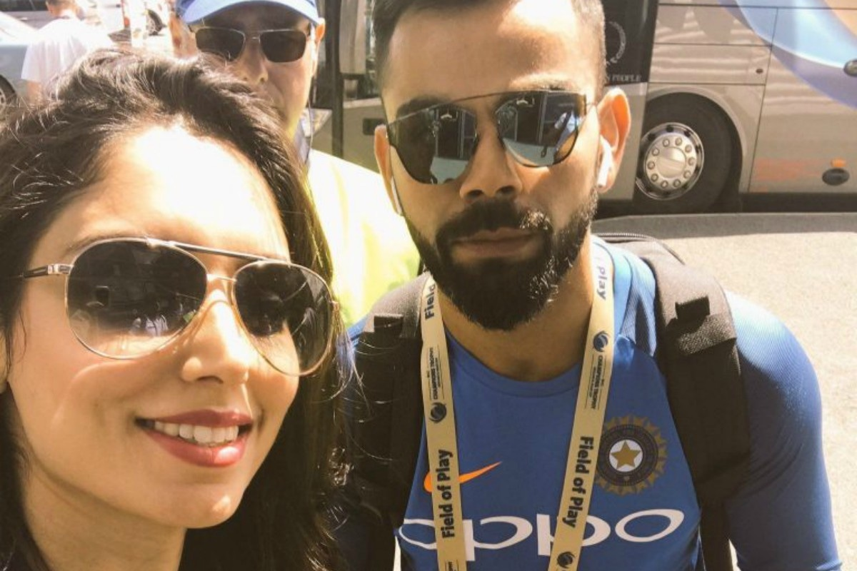 Zainab with Indian batsman Virat Kohli