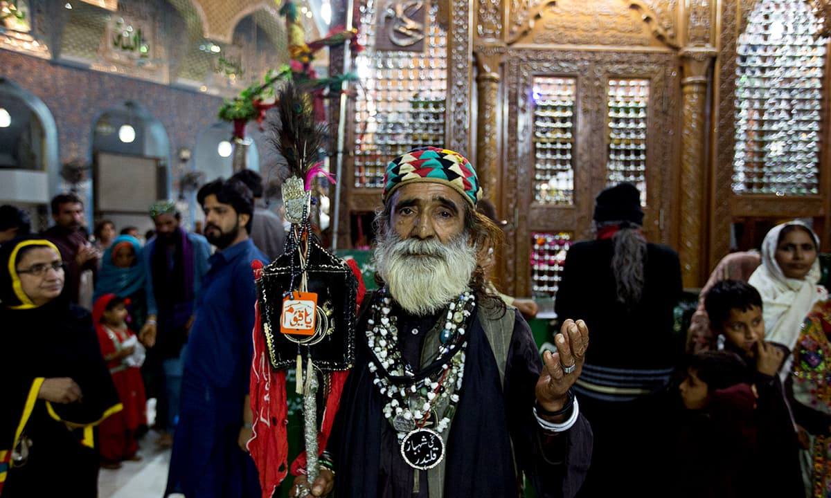 Abdullah Faqir, a devotee of Lal Shahbaz Qalandar. He died in a bomb blast at Qalandar's shrine on February 16, 2017
