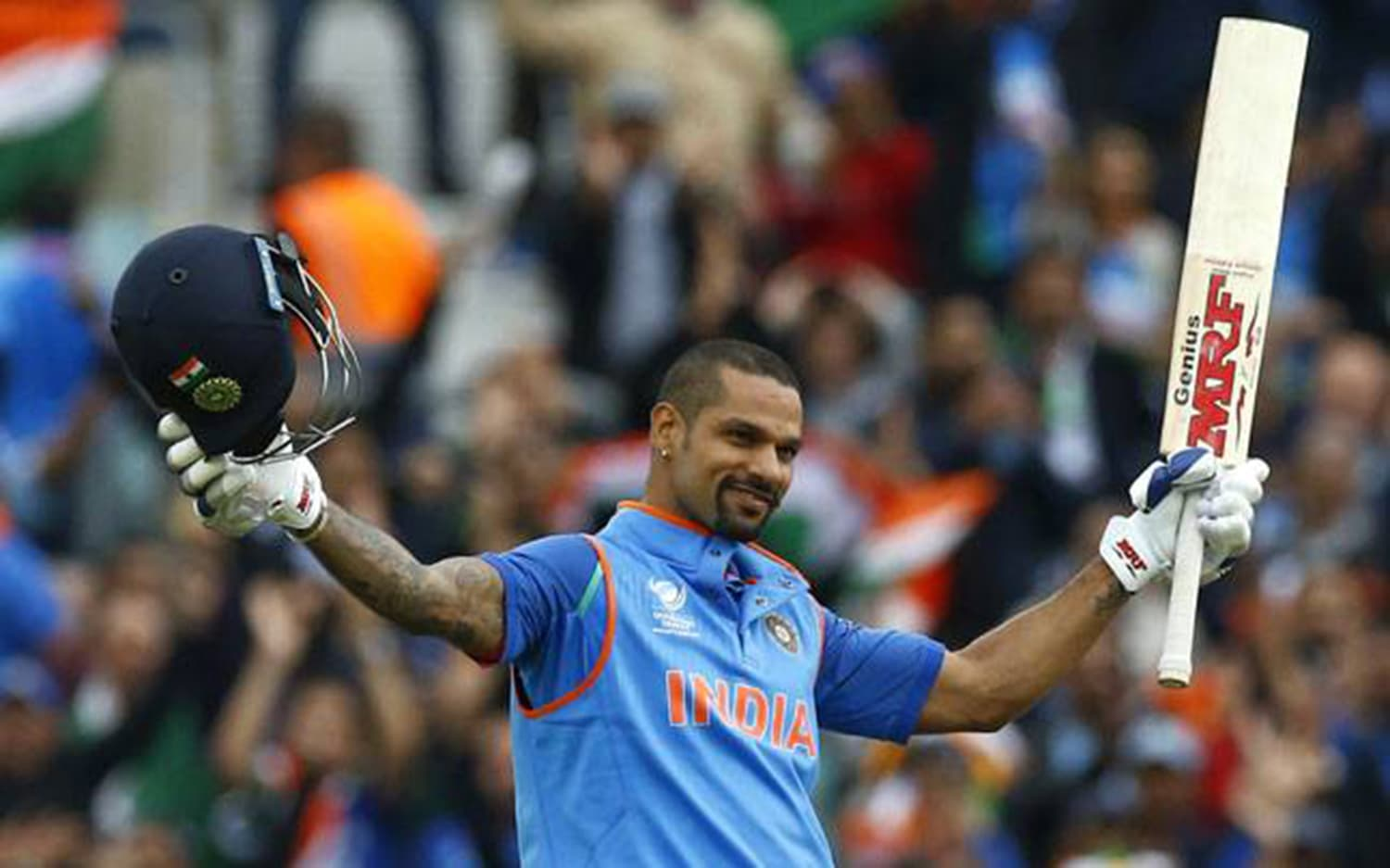 Dhawan, India's highest run-getter, has amassed 680 runs in all editions of the ICC Champions Trophy – Photo: Reuters.