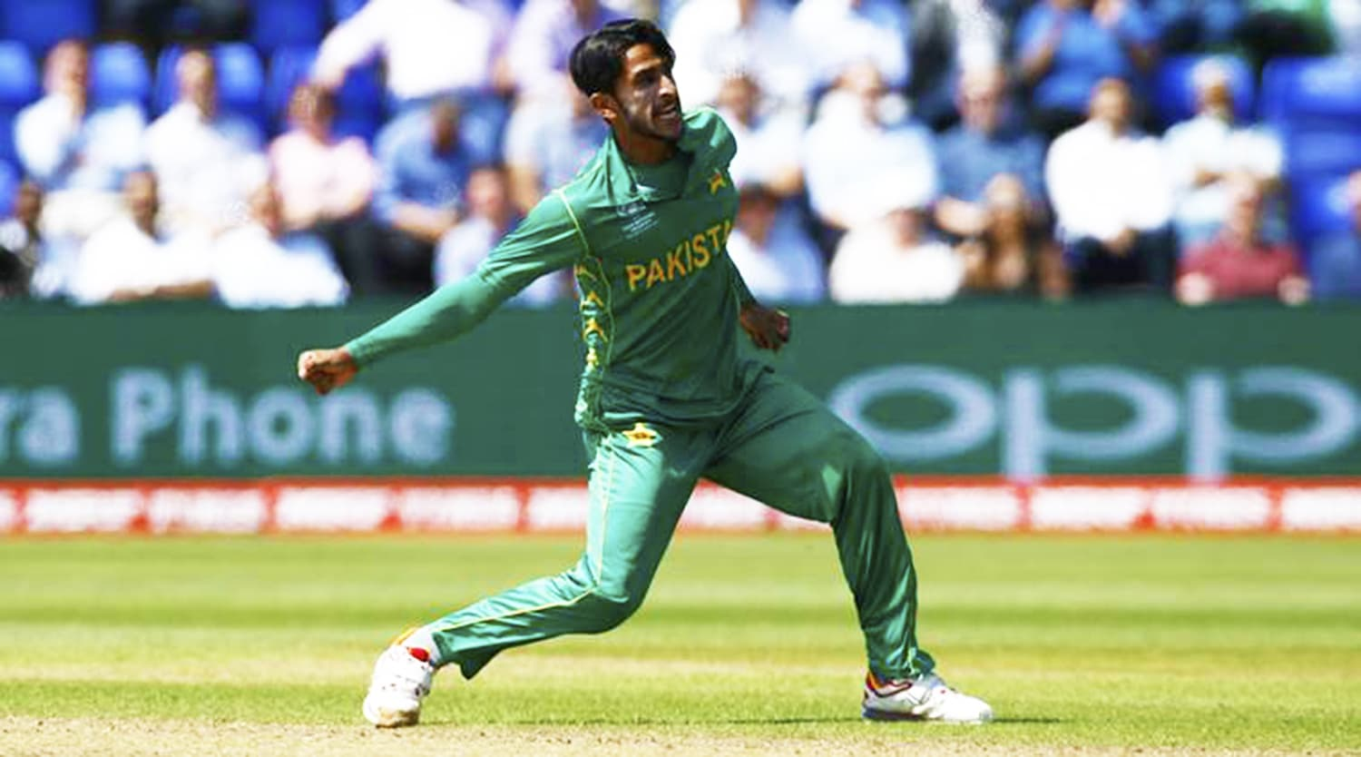 Hasan Ali has taken 10 wickets, the most in the tournament, at a brilliant economy of 17.20 – Photo: Reuters.