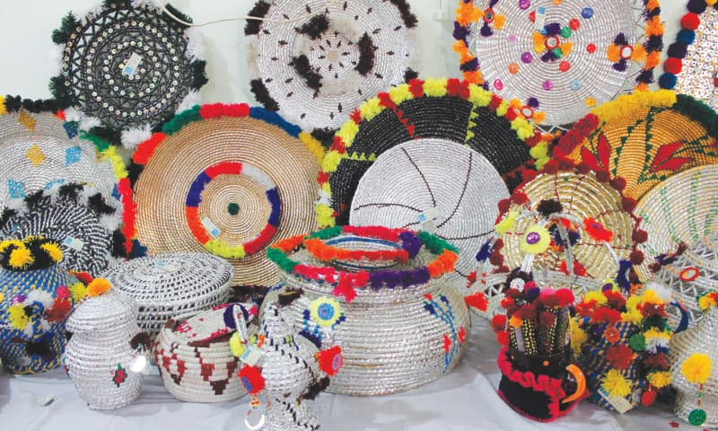 Beautiful handicrafts prepared by tribal women | Photos by the writer