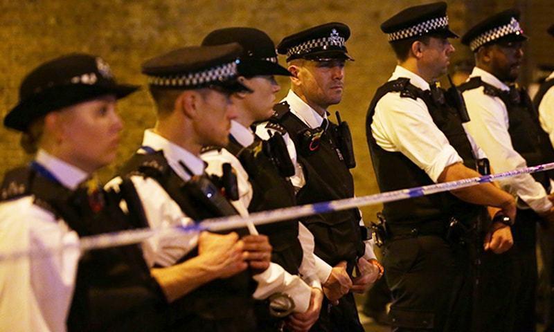 واقعے کے بعد پولیس نے علاقے کو سیل کردیا—۔فوٹو/ اے ایف پی