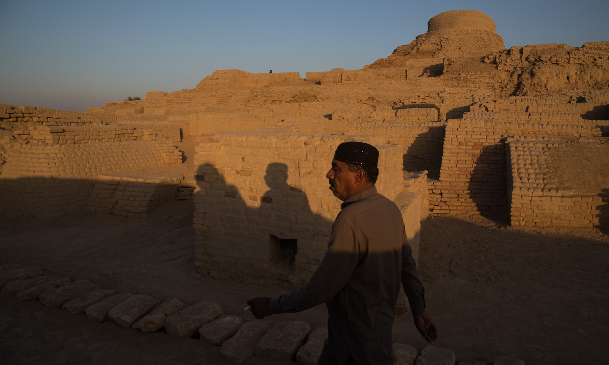 Mohenjodaro before sunset