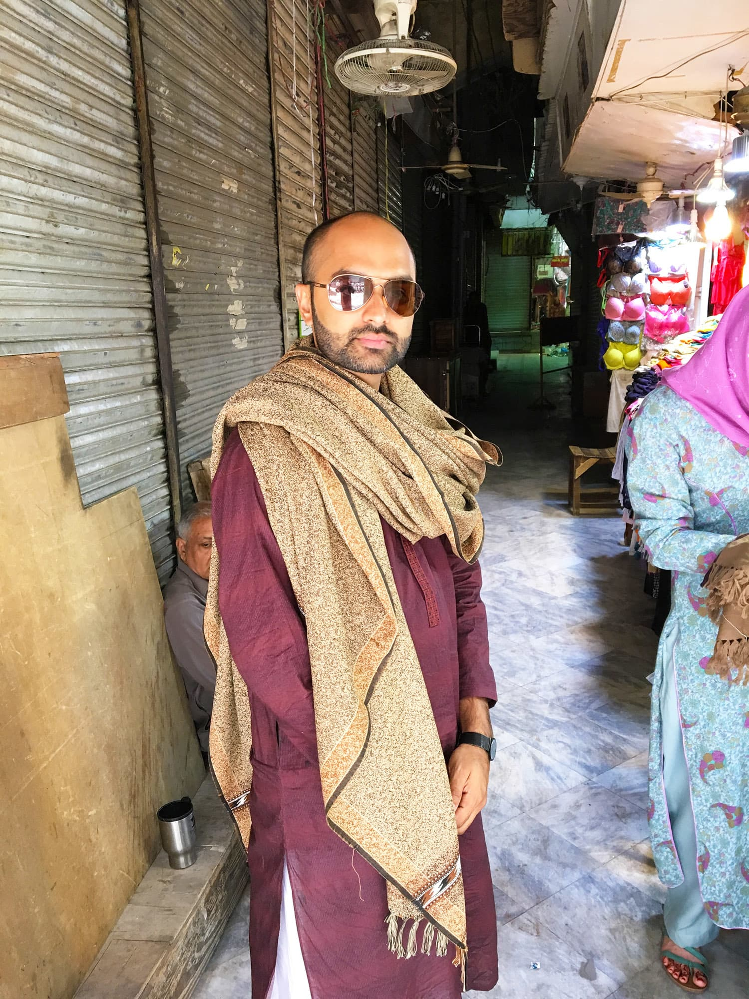 Donning one of the shawls from an amazing collection available at Anarkali Bazaar.