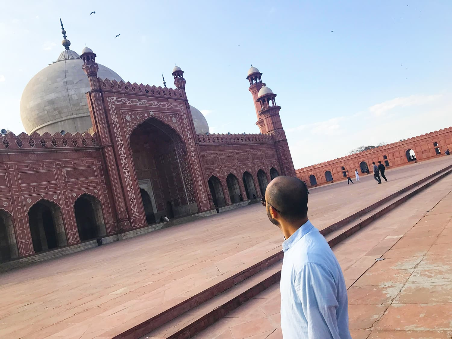 I couldn't take my eyes off the beautiful Mughal architecture of the Badshahi Masjid.