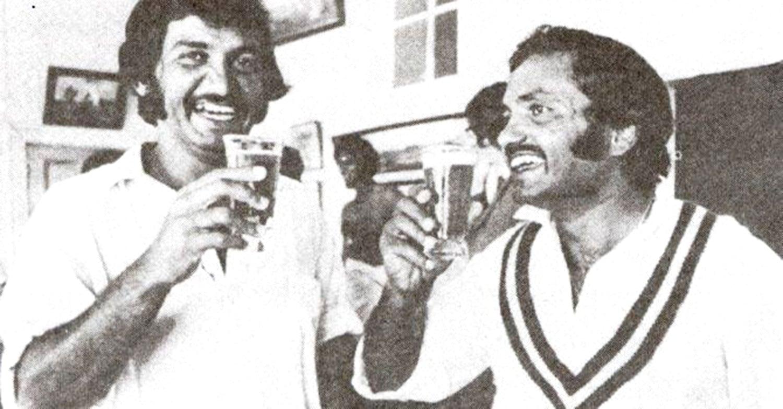 Sadiq and Mushtaq, 1976. — Photo: The Cricketer Pakistan/Afia Salam.