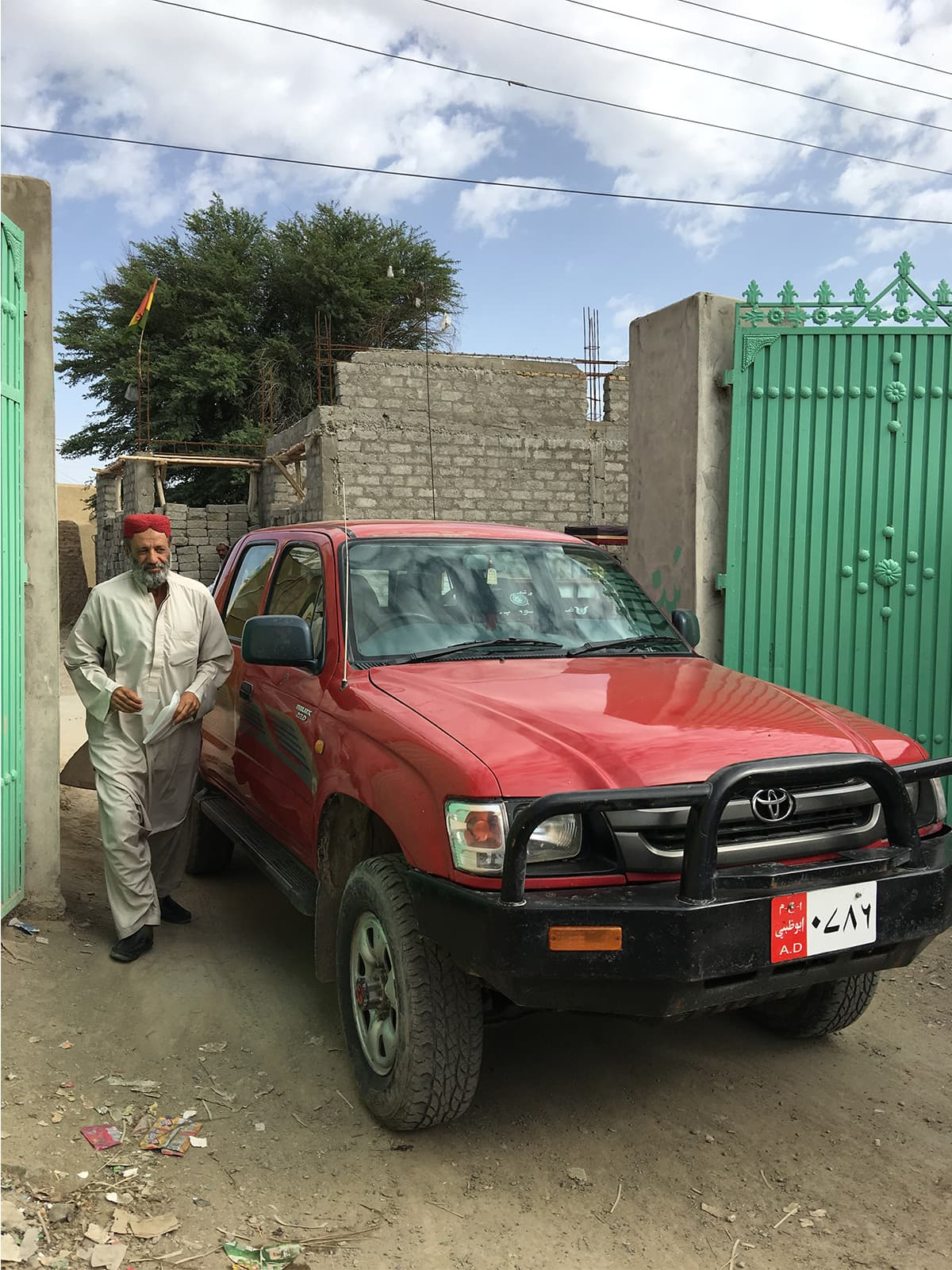 One of the vehicles used by Abu Dhabi's local staff in Kharan and Washuk district, Balochistan | Subuk Hasnain