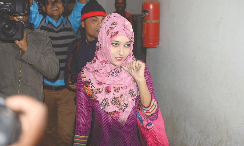 BANGLADESHI actress-turned-preacher Naznin Akter Happy in this file photo taken on Dec 14, 2014.—AFP