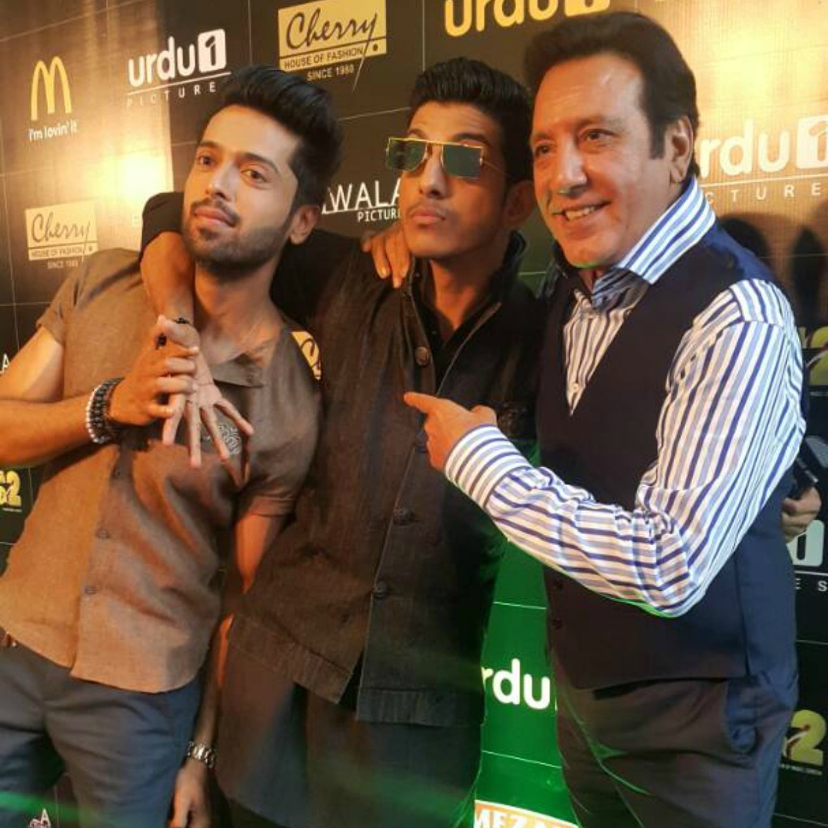 The Na Maloom Afraad trio — Fahad Mustafa, Mohsin Abbas Haider and Javed Sheikh