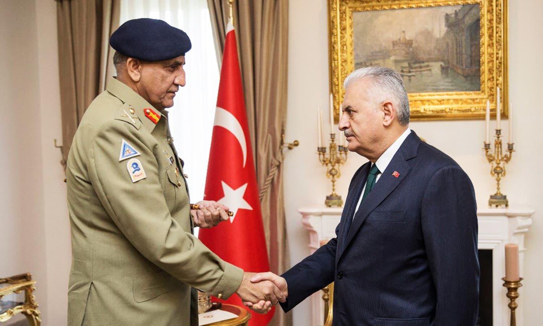 Pakistan supports Turkey's stance on Cyprus, COAS tells Turkish PM