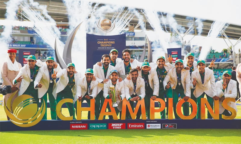 'We are the champions'; Fakhar Zaman celebrates his century in the final