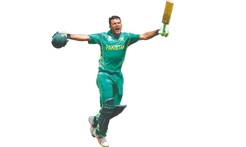 Zaman celebrates his century in the final