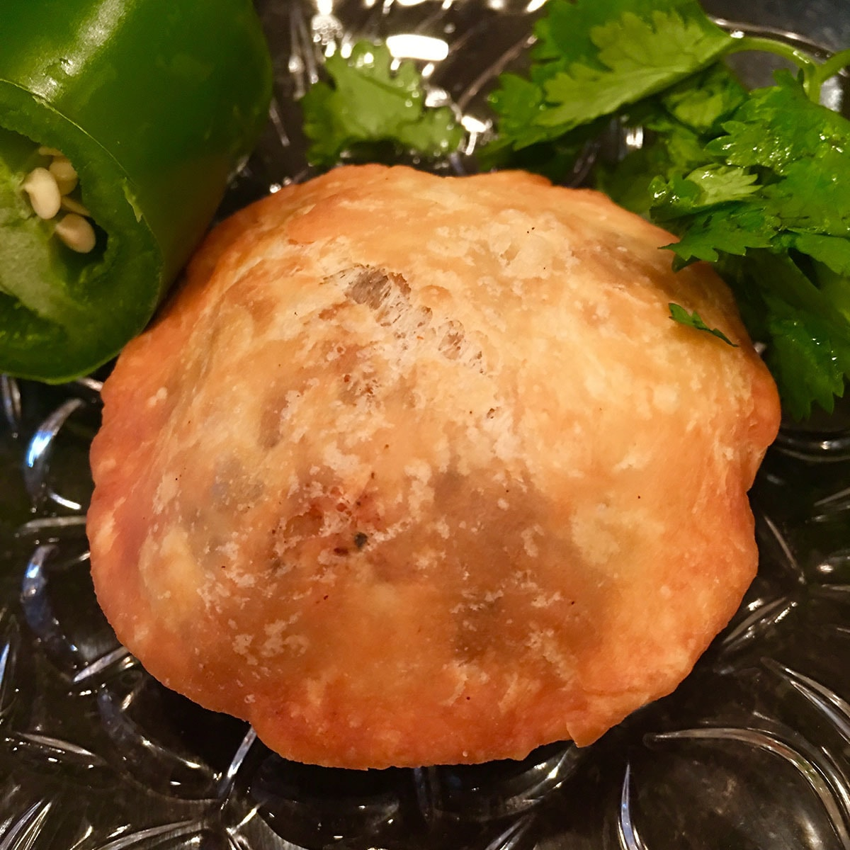 Fresh kachori, hot from the stove.
