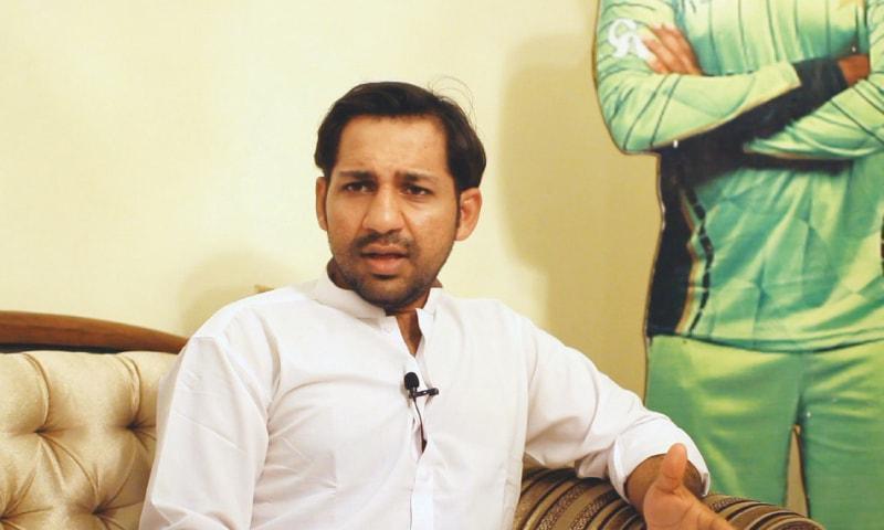 Sarfaraz Ahmed in a candid conversation. — Dawn
