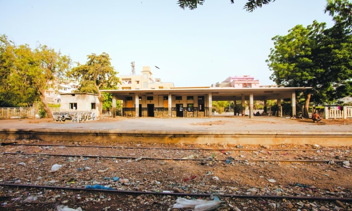 Karachi Circular Railway's Nipa station