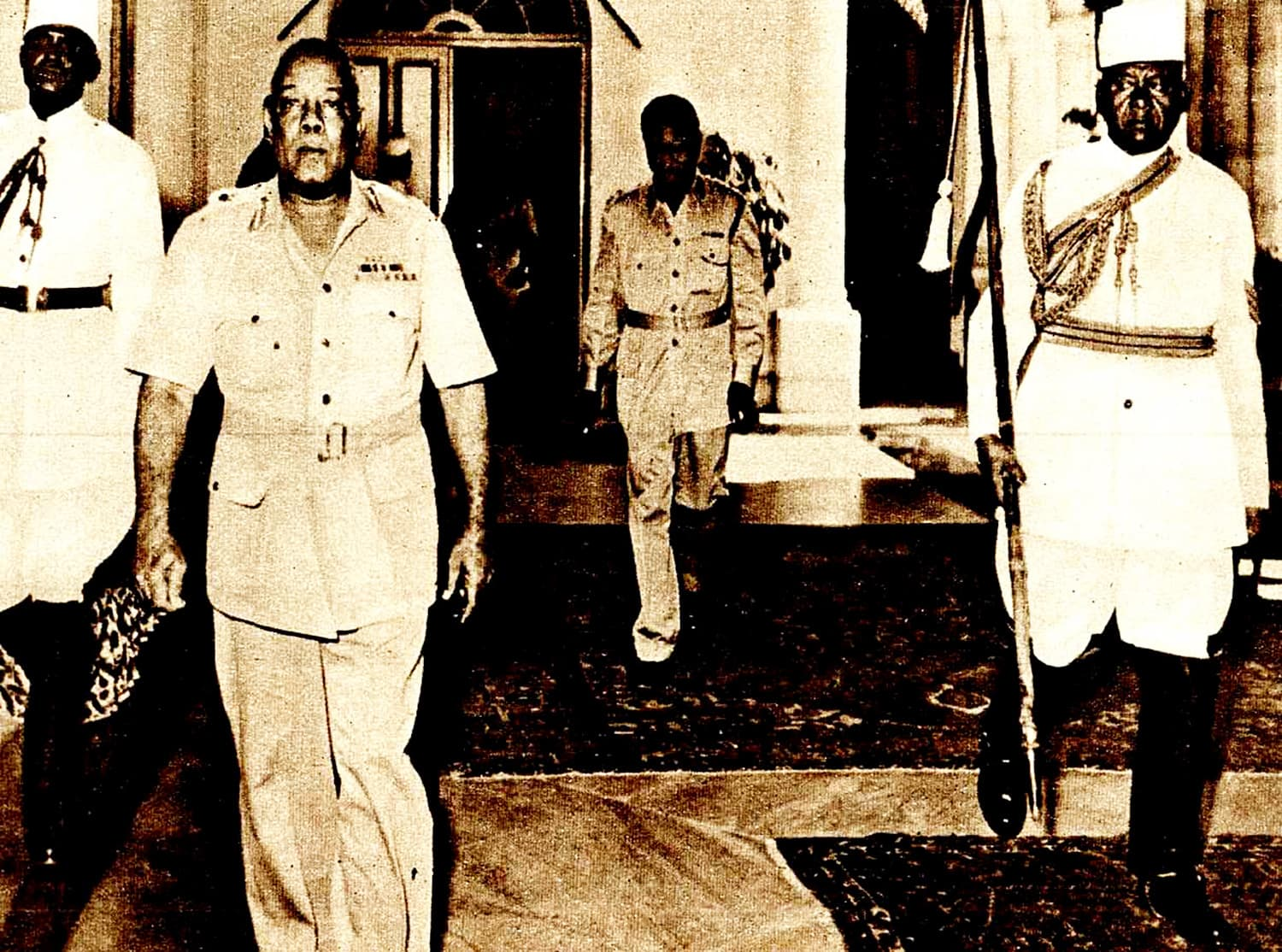 Leader of the 1958 military coup in Sudan, General Abboud. He was a sympathiser of the quasi-Islamic groups, the Ansar and the Khatimiyya.  — Photo: Past Daily.