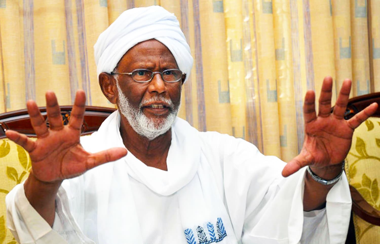 Sudanese Islamic ideologue, Hasan Turabi. — Photo: The Guardian.