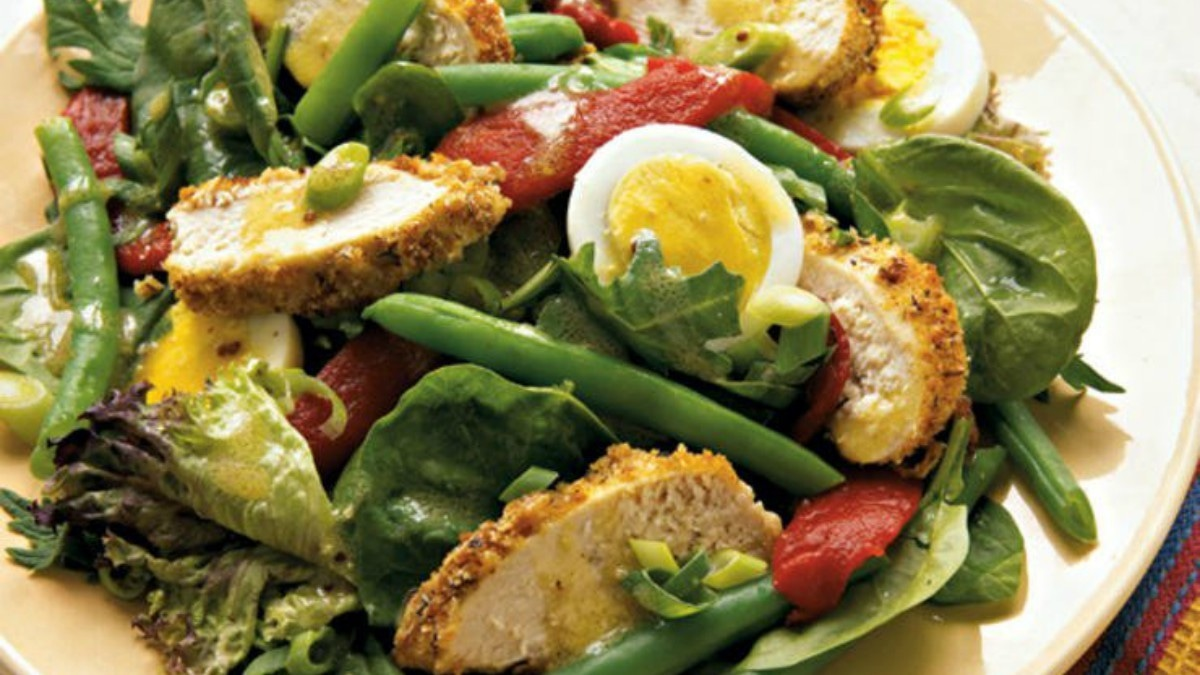 Have a salad full of leafy greens and protein to keep yourself full