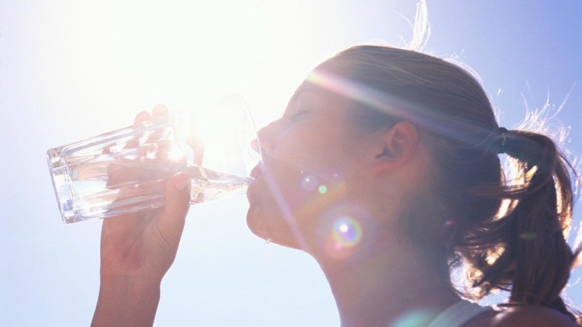 Just like you space out your meals, you should also space out your water intake.