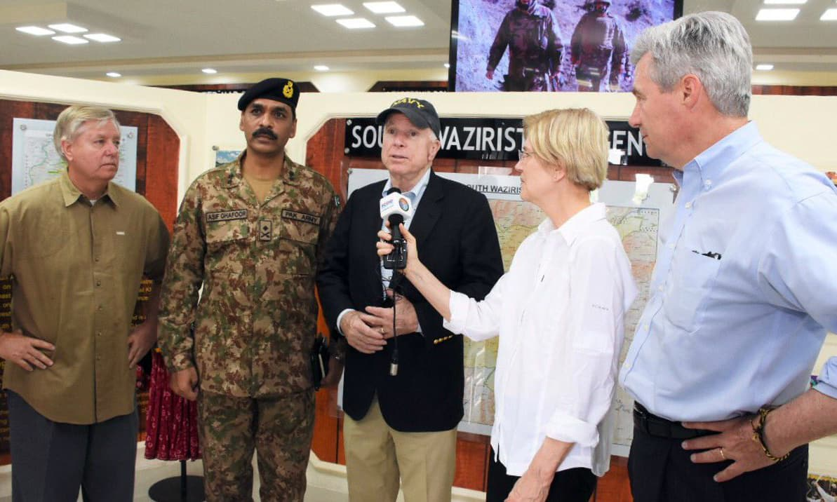ISPR says that the five-member delegation of US senators had been briefed on socio-economic development in the Agency. Photo: ISPR