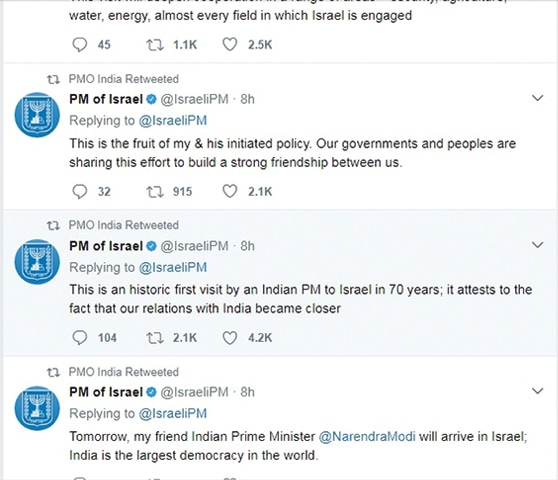 Modi heads to Israel, lifting the curtain on close ties