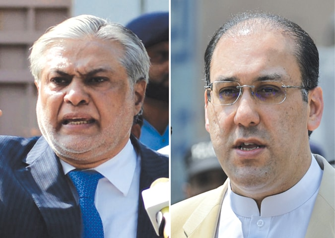 FINANCE Minister Ishaq Dar and Hassan Nawaz, the prime minister's younger son, join the chorus of PML-N voices lambasting the JIT these days.