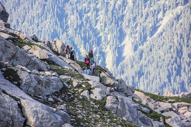 Tourists heading towards Saidgai Lake.—Fazal Khaliq
