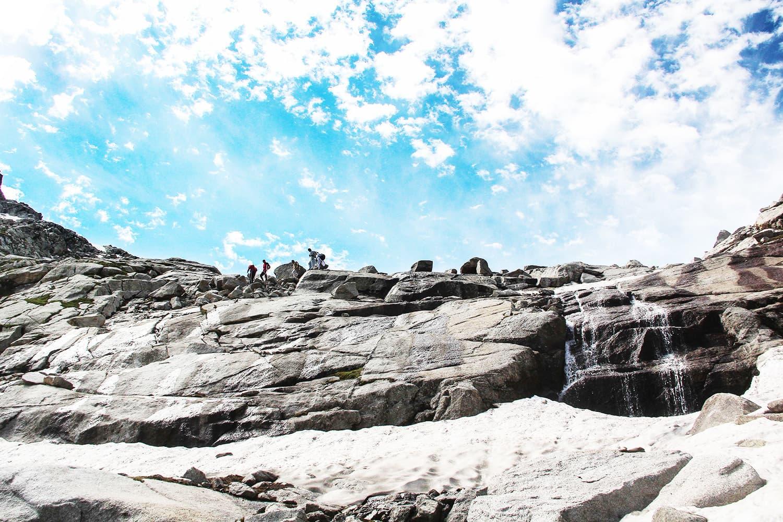 Tourists move to Saidgai Lake.—Fazal Khaliq