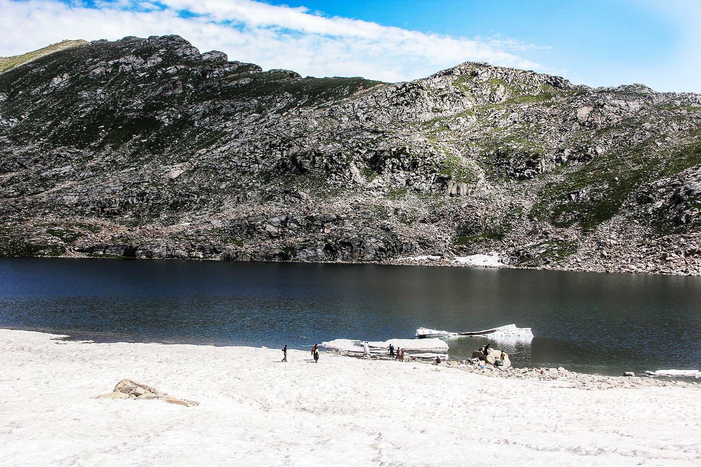 View of Saidgai Lake with huge blocks of glaciers in it.—Fazal Khaliq