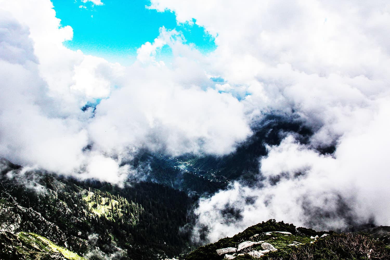 An enchanting view of Sulatanr valley from above the clouds.—Fazal Khaliq