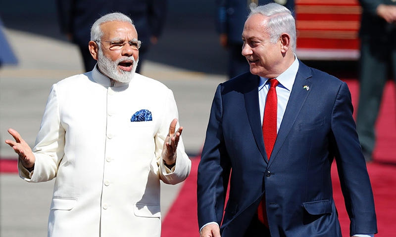 Modi begins first ever Israel visit by an Indian PM
