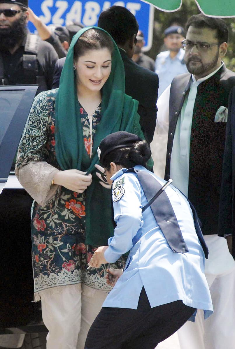SP Arsala Saleem lifts pen for Maryam Nawaz. ─Online