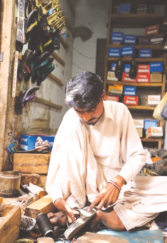 Narain hard at work in his shop