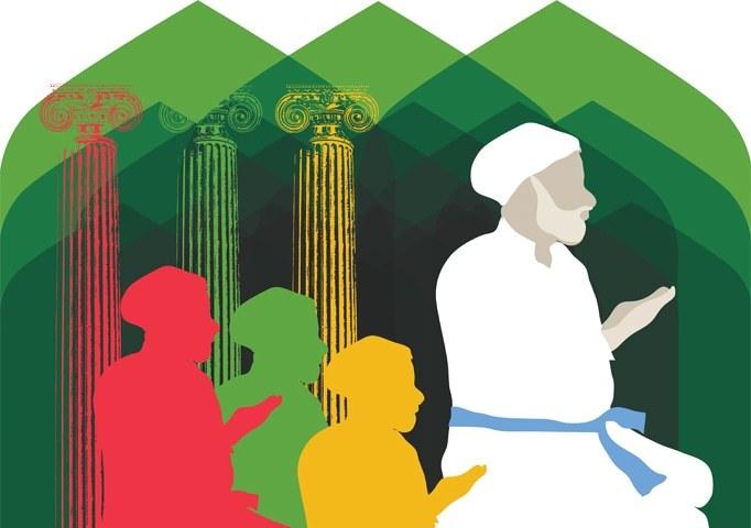 ریاست کس طرح صوفی شناخت کو اپنے مختلف سیاسی حالات کے مطابق ڈھالتی رہی؟ —خاکہ: خدا بخش ابڑو
