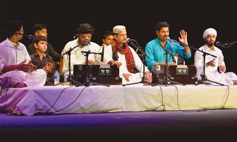 Ghayoor-Moiz-Mustafa Qawwal perform at Napa on Sunday.—White Star