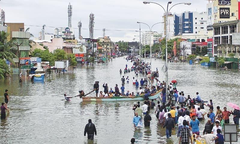 این ڈی ایم اے نے تیزبارش کے علاوہ سیلاب کا الرٹ جاری کردیا