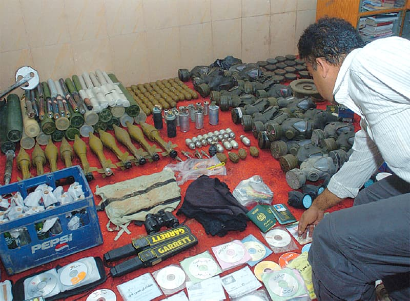 Arms, ammunitions and jihadi literature siezed from the mosque premises. ─ White Star