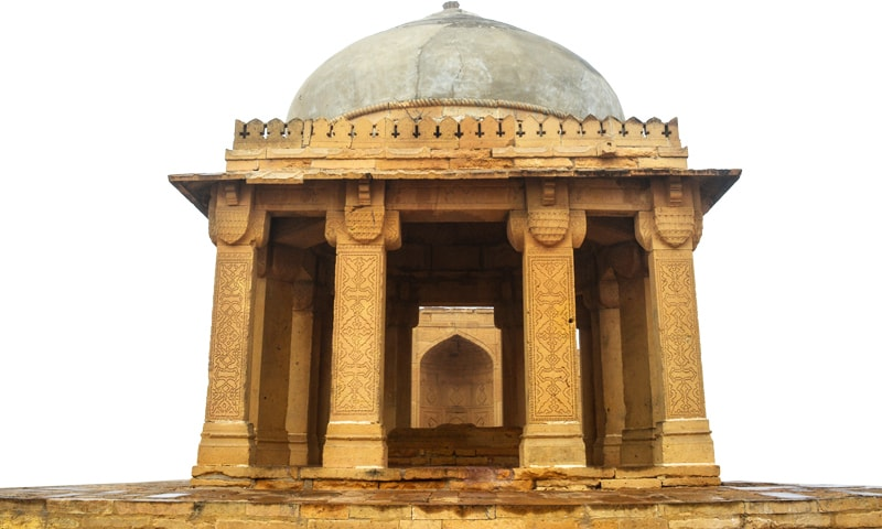 One of the many pavilions found in Makli