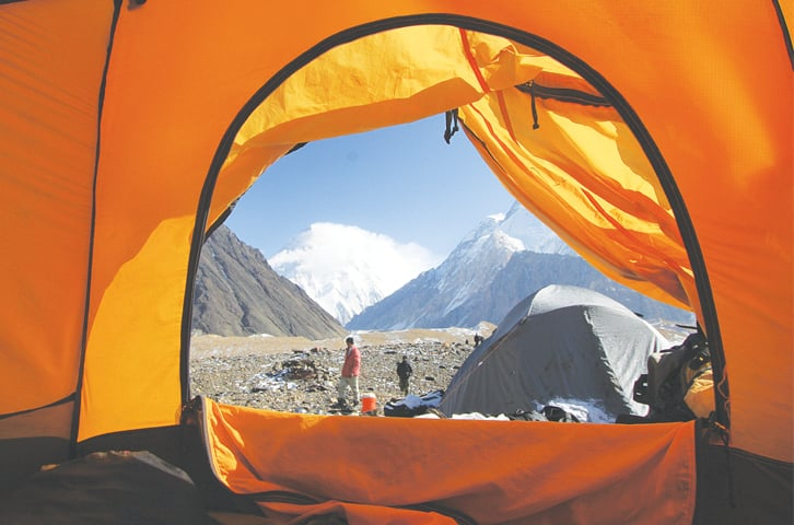 waking up at Camp Concordia to the mighty K2 | Photos by Danial Shah