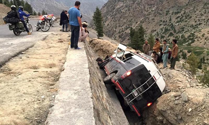 بابوسر میں گاڑی کو حادثہ، 4 سیاح جاں بحق