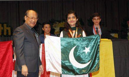 Maaha Ayub bagged the medal for Pakistan in the 49th International Chemistry Olympiad in Thailand. —Photo provided by author
