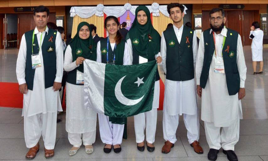 Four Pakistani students were sent to compete against 297 students from around the world. —Photo provided by author