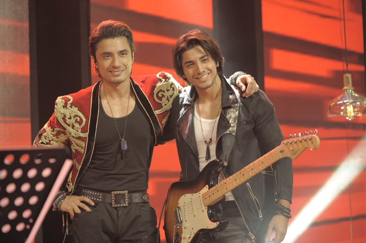 Ali Zafar with his brother Danyal Zafar