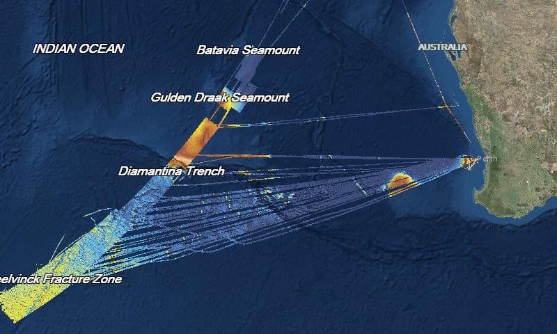 سمندر کا وہ حصہ جہاں آپریشن کیا گیا—فوٹو: جیو سائنس آسٹریلیا
