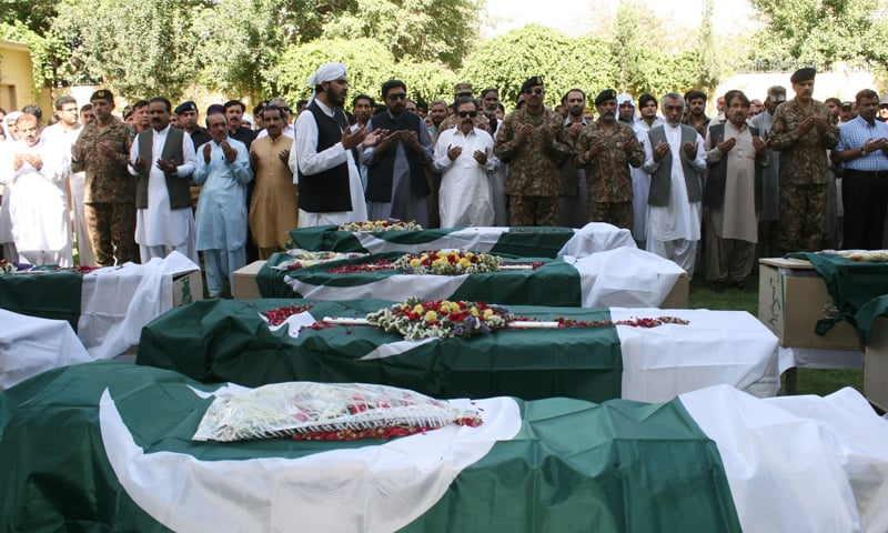 Funeral rites being carried out for those who lost their lives in the twin blasts on June 23, 2017