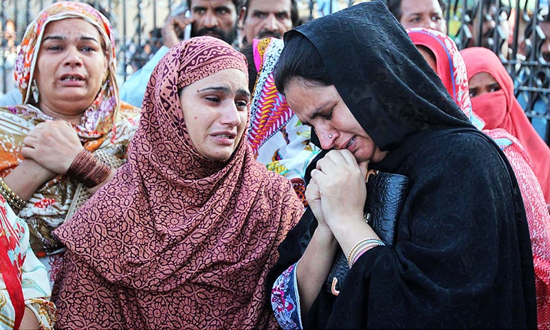 Panic, hope and fear outside Lahore's public hospitals