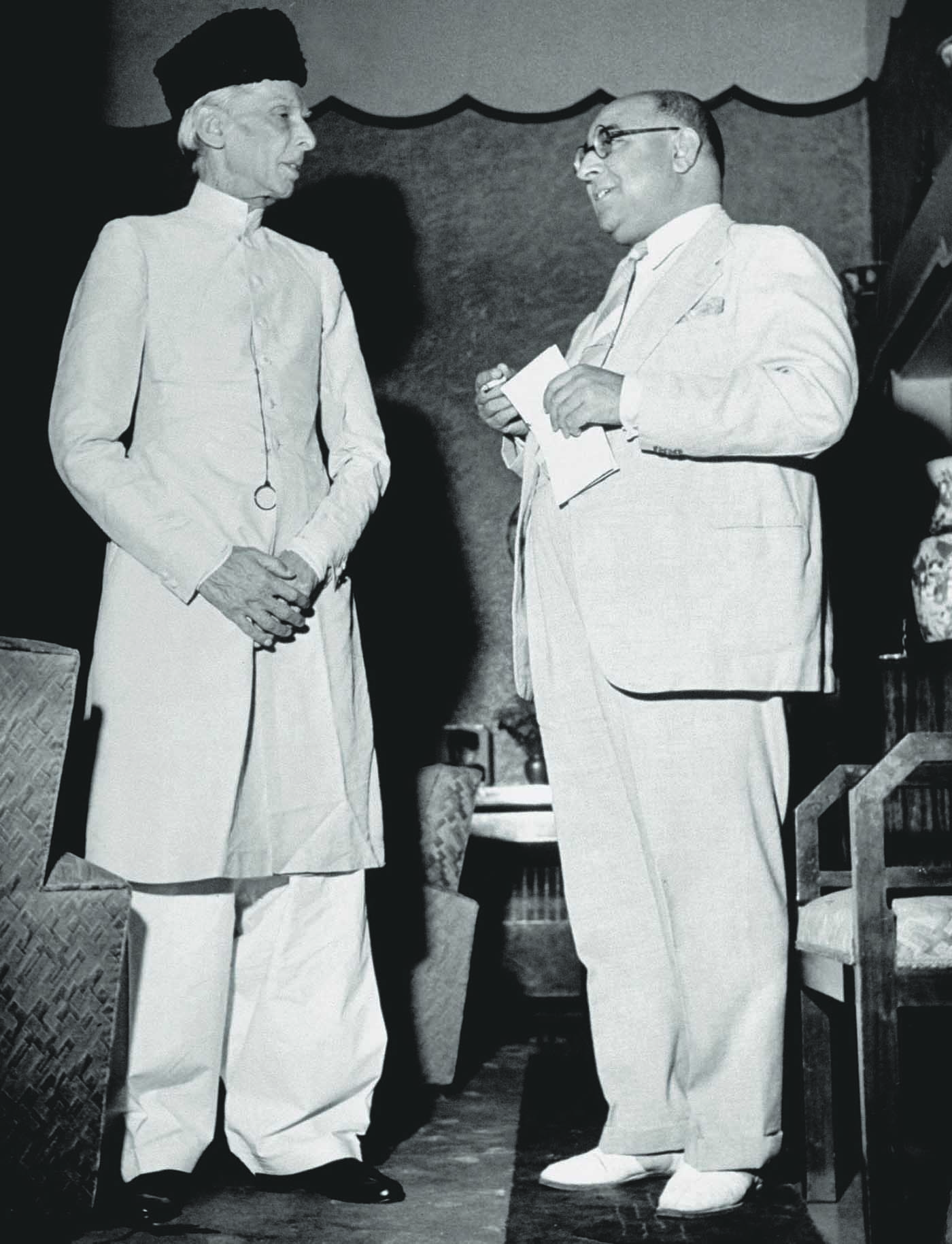 Quaid-i-Azam Mohammad Ali Jinnah and Nawabzada Liaquat Ali Khan at the former's residence at 10, Aurangzeb Road. — Excerpted with permission from Witness to Life and Freedom, Roli Books, Delhi