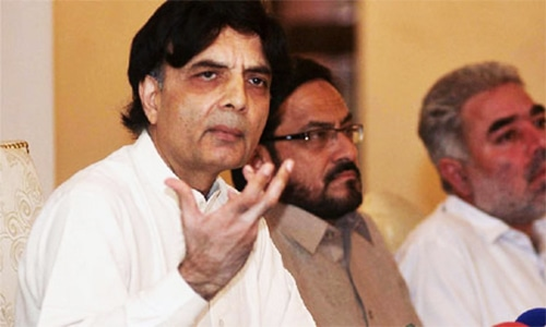 Nisar was excluded from PML-N's consultative meetings, wants to know why: interior ministry