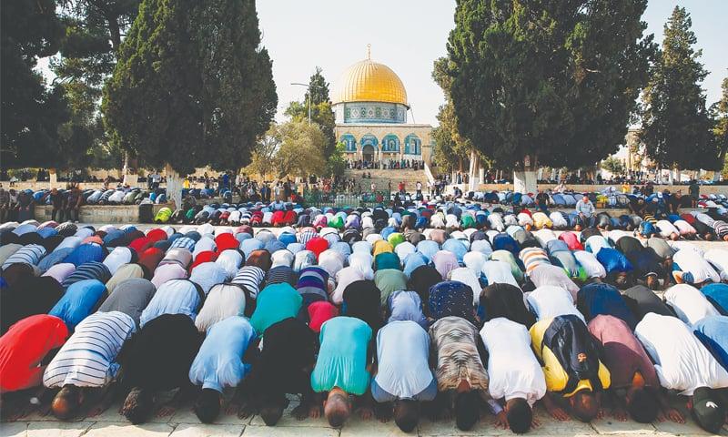 مسلم ممالک کے لیے فلسظینی ریاست سے بڑا سوال القدس کی حفاظت ہے