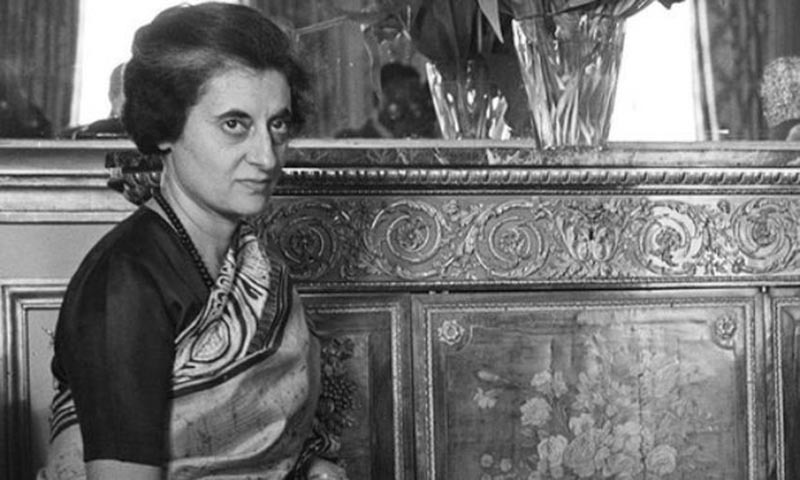 When Indira Gandhi was unseated by the judiciary